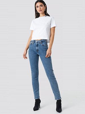 Calvin Klein High Rise Slim Jeans blå