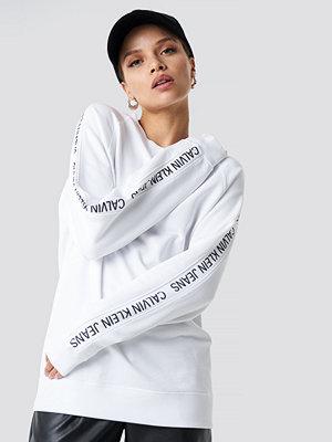 Calvin Klein Track Raglan Crewneck Sweater vit