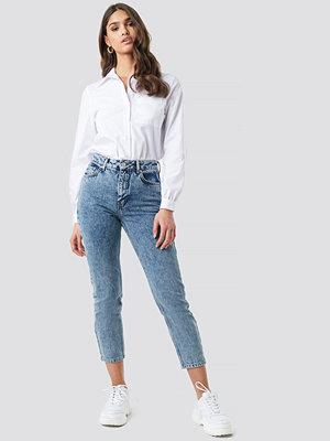 NA-KD Trend Cropped 5 Pocket Jeans blå