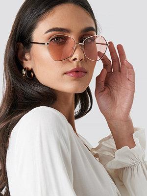 Solglasögon - Le Specs Escadrille rosa guld