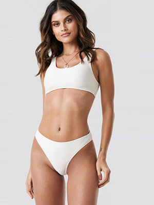 NA-KD Swimwear Ribbed Sporty Bikini Bottom vit