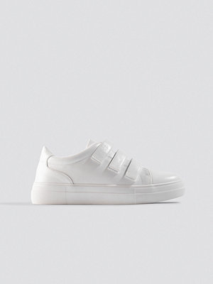 NA-KD Shoes Velcro Sneakers vit