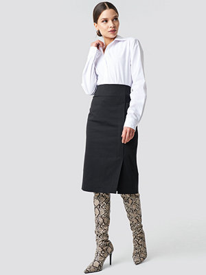 Trendyol Binding Detail Midi Skirt svart