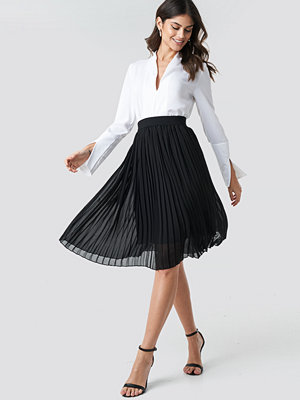 NA-KD Midi Pleated Skirt svart
