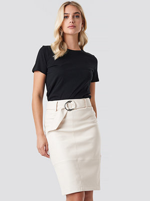 NA-KD Trend Belted Midi Skirt vit