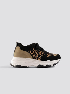 Sneakers & streetskor - NA-KD Shoes Leopard Chunky Trainers svart brun