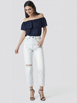 Cheap Monday Donna Off Blue Jeans blå