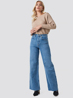 NA-KD Trend High Rise Wide Leg Jeans blå