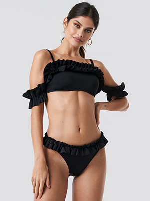Trendyol Yol Ruffle Detailed Bikini Bottom svart