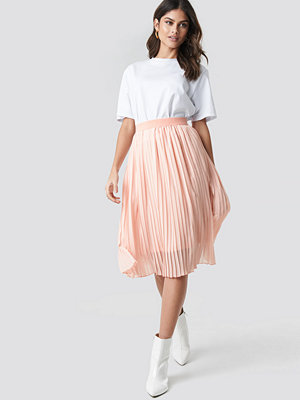 NA-KD Midi Pleated Skirt rosa