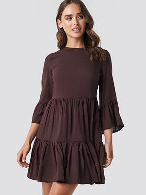 Trendyol Skirt Shirred Dress brun