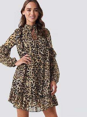 Trendyol Yol Leopard Patterned Dress brun beige