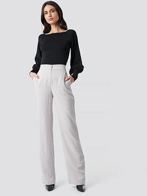 Trendyol vita byxor Classic Highwaist Pants grå