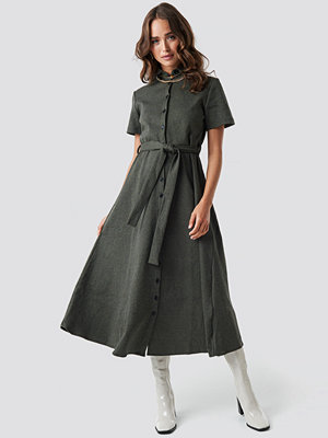 Trendyol Gingham Long Dress grön