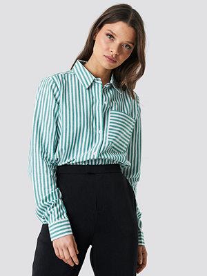 Rut & Circle Lina Stripe Shirt vit grön
