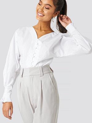Trendyol Button Detailed Poplin Shirt vit