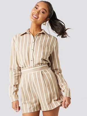 Skjortor - Trendyol Milla Striped Shirt beige