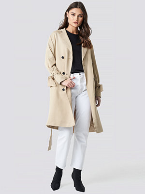 NA-KD Belted Trench Coat beige