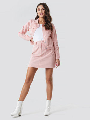 NA-KD Co-ord Corduroy Mini Skirt rosa