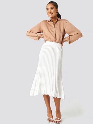 Trendyol Yol Pleated Midi Skirt vit