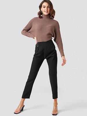 Trendyol svarta byxor Waist Detailed Trousers svart