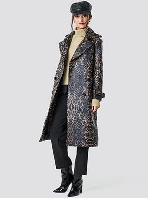 NA-KD Trend Leopard Belted Coat multicolor