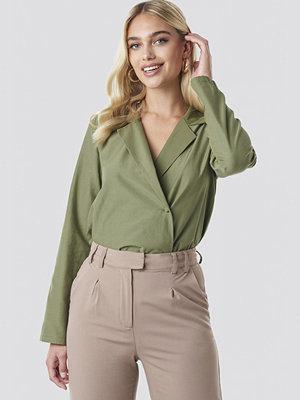 NA-KD Trend Overlap Shirt grön