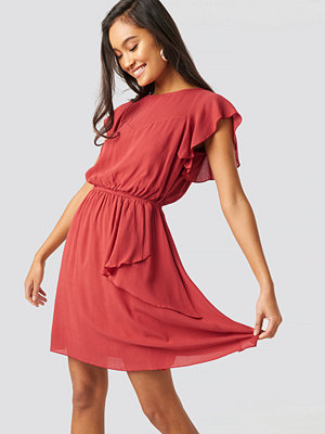 Trendyol Pleated Mini Dress röd