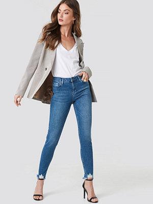 Rut & Circle Victoria Destroyed Hem Jeans blå