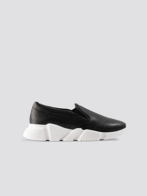NA-KD Shoes Chunky Slip In Sneakers svart