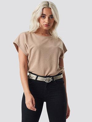 T-shirts - NA-KD Basic Slip Top beige