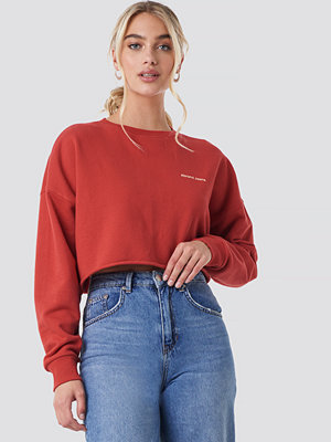 Abrand A Oversized Crop Sweater röd