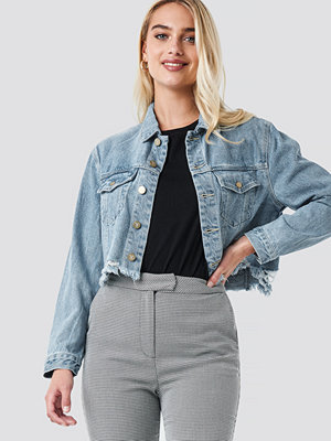 Abrand A Cropped Denim Jacket blå