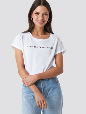 T-shirts - Tommy Hilfiger Logo Flag Tee vit
