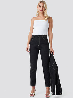 Abrand Höga Smala Jeans svart