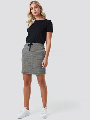 NA-KD Jacquard Check Skirt multicolor