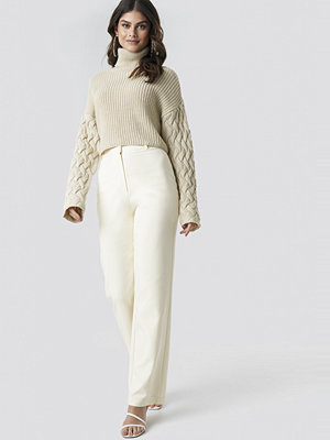 Tina Maria x NA-KD vita byxor Wide Leg Suit Pants vit