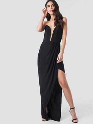 Trendyol Strapless Evening Dress Gown svart