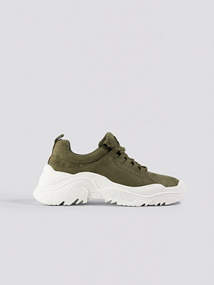 NA-KD Shoes Faux Suede Profile Trainers grön