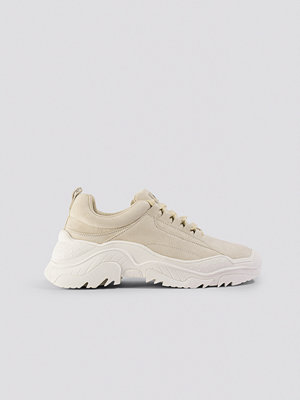 NA-KD Shoes Faux Suede Profile Trainers beige