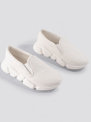 NA-KD Shoes Chunky Slip In Sneakers vit