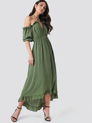 Trendyol Ruffle Detail Maxi Dress grön