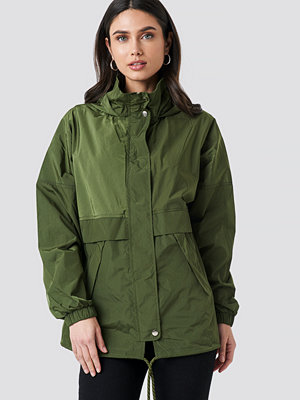 NA-KD Utility Zip Jacket grön