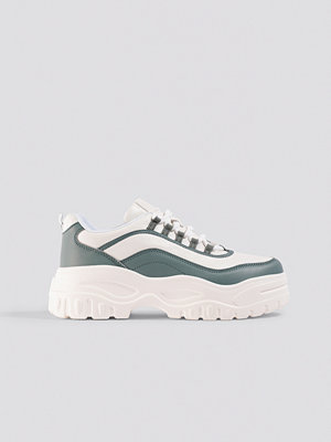 NA-KD Shoes Chunky Sole Sneakers vit grön