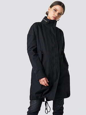 NA-KD Utility Oversized Jacket svart