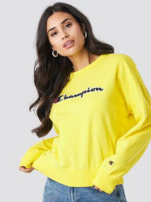 Tröjor - Champion Crewneck Logo Sweatshirt gul