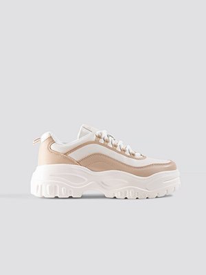 NA-KD Shoes Chunky Sole Sneakers vit beige