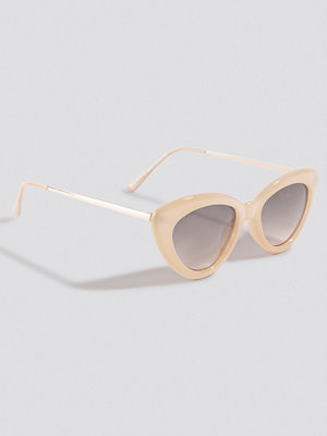 NA-KD Accessories Retro Cat Eye Sunglasses nude