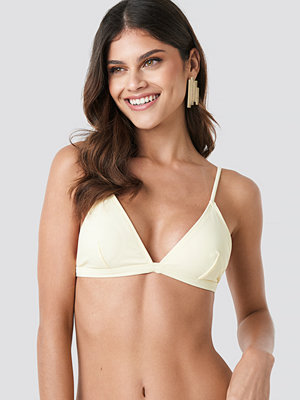 NA-KD Swimwear Basic Triangle Bikini Bra gul