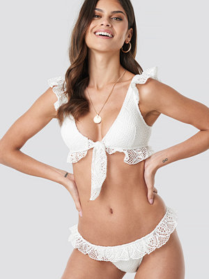 Trendyol Lace Detailed Bikini Bottom vit